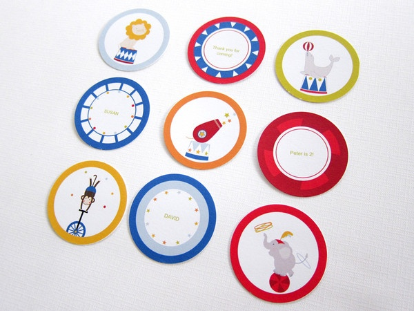Circus Party Kit ~ Party Circles