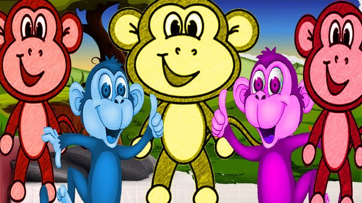 Five Little Monkeys Jumping On The Bed Nursery Rhymes For Children Songs...
