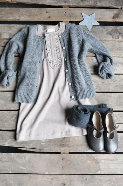 BIG! Winter Sale :: Lambswool Cardigan - Olive Juice | Childrens Clothing | Girls Dresses | Kids Clothes | Girls Clothing | Classic Kids Clothing