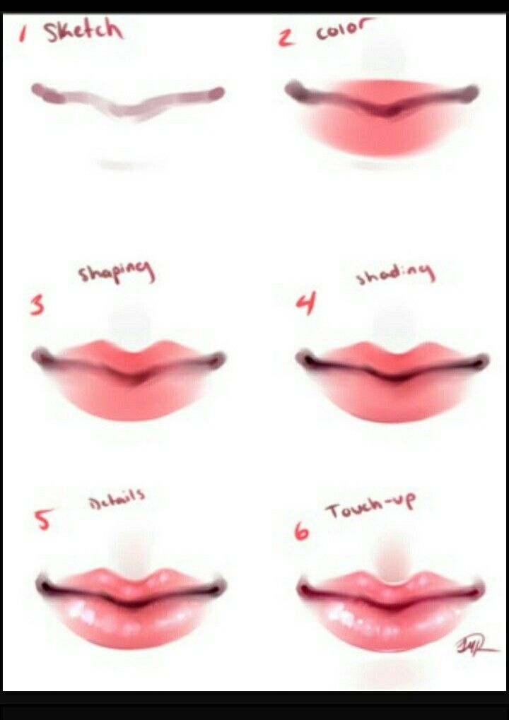 Pin By Zantessa Mays On Art Lips Drawing Anime Art Tutorial