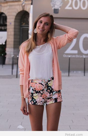 Floral shorts for summer