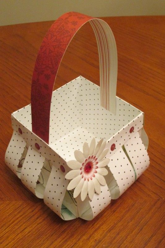 How To Make A Newspaper Basket With Top : Best slatted basket images on paper crafts