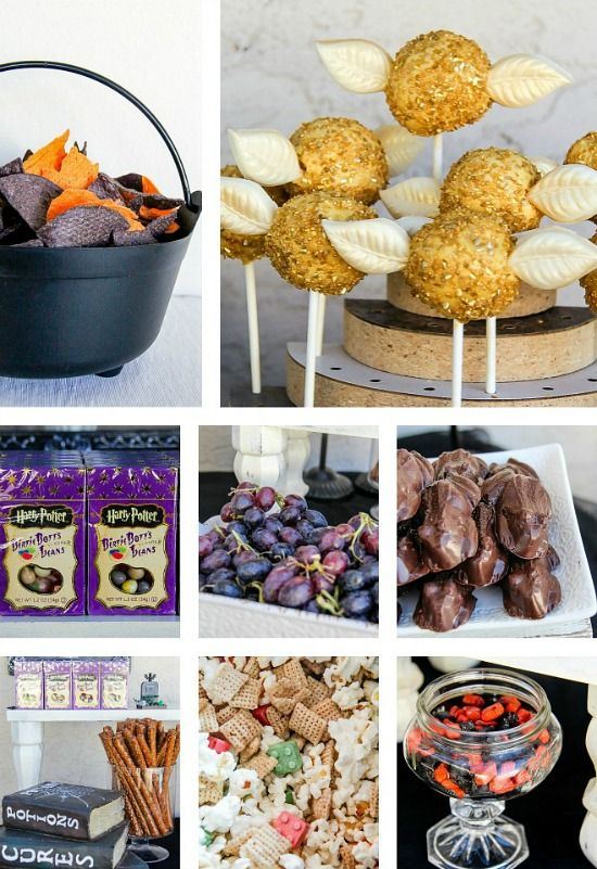 Snitch Cake Pops and other Harry Potter party food