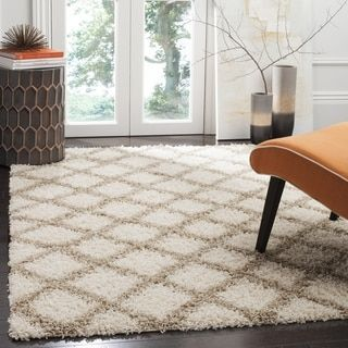 Shop for Safavieh Dallas Trellis Ivory / Beige Shag Rug (8' 6 x 12'). Get free shipping at Overstock.com - Your Online Home Decor Outlet Store! Get 5% in rewards with Club O!