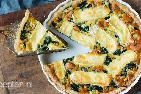 Een lekkere combi van groene groenten, zachte brie en hartige cashewnoten gecombineerd in een hartige taart. Klinkt goed toch? Je maakt deze quiche super gemakkelijk klaar. Ook ideaal; je kunt de quich goed voorbereiden, zo hoef je hem 's avonds alleen nog maar in de oven te schuiven. Eet smakelijk!Voorbereidingstijd: 30 min | Oventijd: 40 min