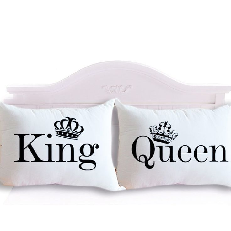 Drop Shipping King Queen Couple Decorative Pillowcase Valentine's Day Gift Body Pillow Case Romantic 2Pcs 50cmx75cm 50cmx90cm #>=#>=#>=#>=#> Click on the pin to check out discount price, color, size, shipping, etc. Save and like it!