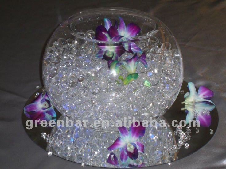13 Kinds Of Color Water Beads Centerpiece With Floating Candles ...