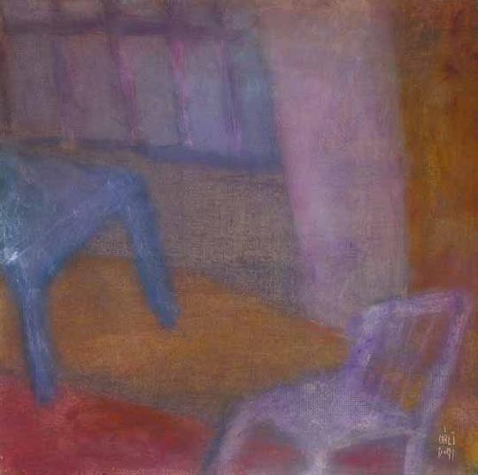 Váli Dezső, Műterem (Kraplakk-narancs), 1991