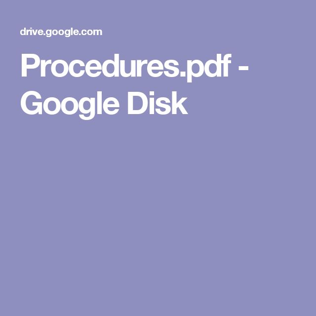 Procedures.pdf - Google Disk
