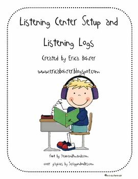 This download is for:Listening Center Setup Directions for the Teacher1 Listening Center Hanging Sign2 Easy Listening Center Logs1 Listenin...