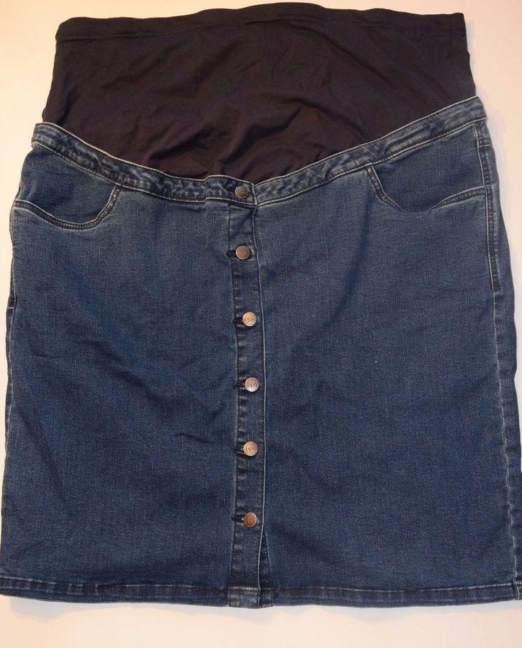 Umstandsmode Schwangerschafts-Mode Jeans-Rock für Schwangere  52 Blau in Kleidung & Accessoires, Damenmode, Umstandsmode | eBay!