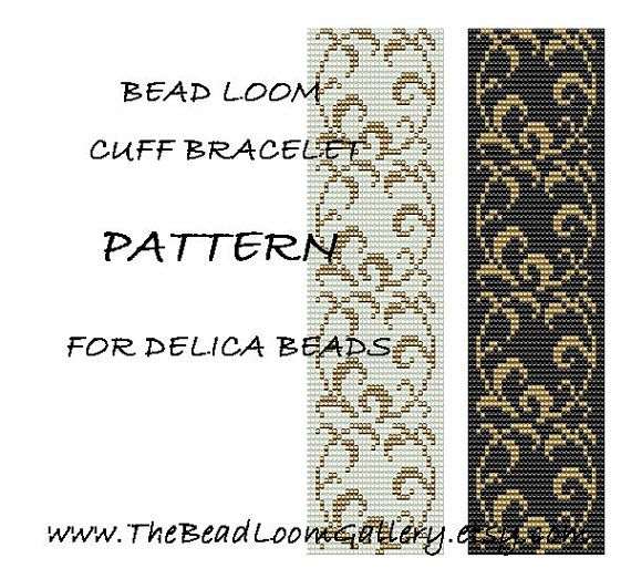 Free Loom Bead Patterns | Bead Loom Cuff Bracelet Pattern Vol.24 - PDF File PATTERN