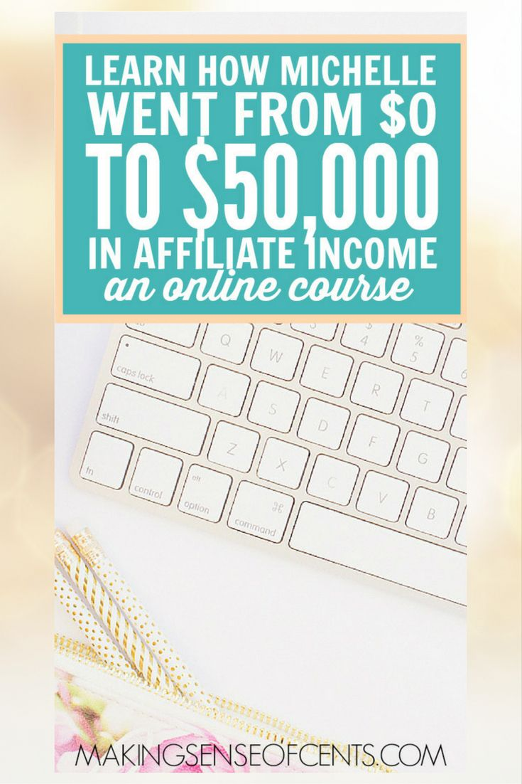 Michelle at Making Sense of Cents has been earning over $50,000 a month from affiliate income. In her course (affiliate link) Making Sense Of Affiliate Marketing learn the same techniques she uses to make a location independent income!