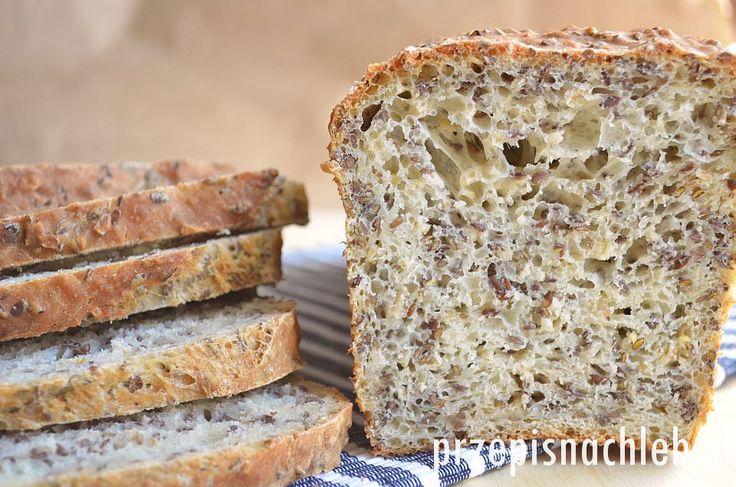 Chleb pszenny z siemieniem lnianym. Bardzo prosty i łatwy do wykonania chleb – w całości wykonany z mąki pszennej, na drożdżach i z bardzo dużą ilością siemienia lnianego. Dodatkowo odrobina płatków owsianych. Siemię lniane można również zastąpić dowolnymi innymi ziarnami. Ciasto wystarczy wymieszać jedynie łyżką. Z podanych proporcji wychodzi jeden naprawdę duży bochenek. Składniki Przygotowanie […]