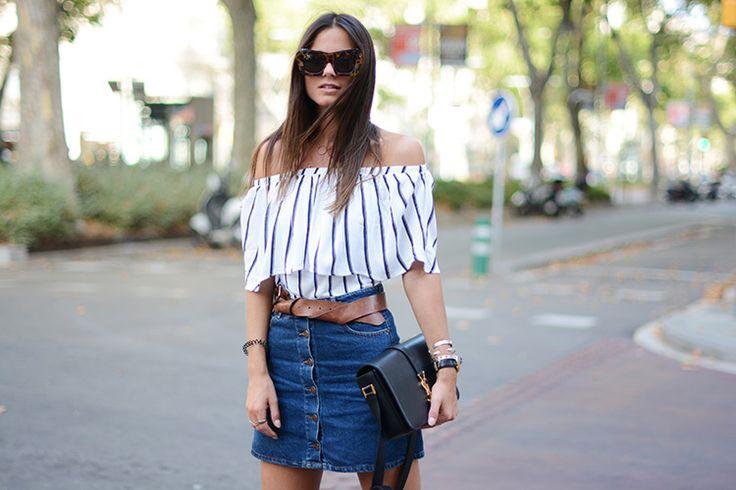 Striped Off-Shoulder | Fashionvibe