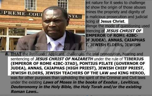 A Kenyan lawyer filed a petition with the International Court of Justice (ICJ) in The Hague, suggesting that Jesus Christ's suffering under Pontius Pilate and crucifixion was unlawful, and the State of Israel among others should be held responsible.