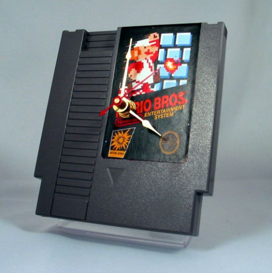 nes game cartridge clock