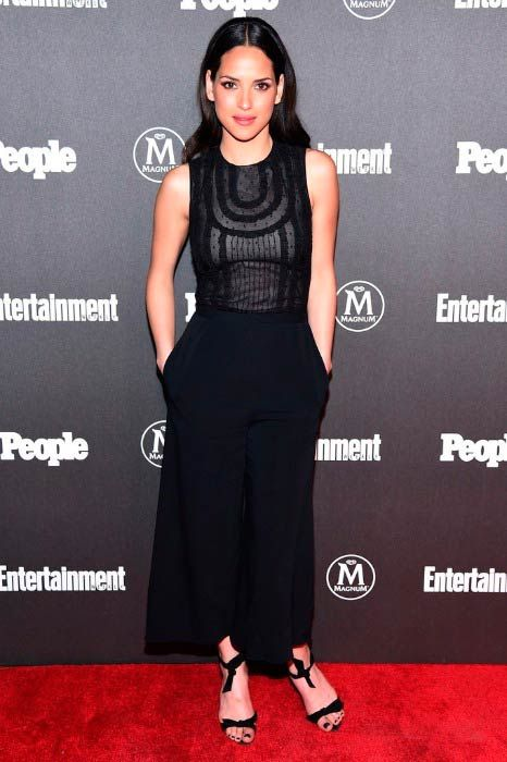 Adria Arjona at the Entertainment Weekly & People Upfronts party in May 2016...