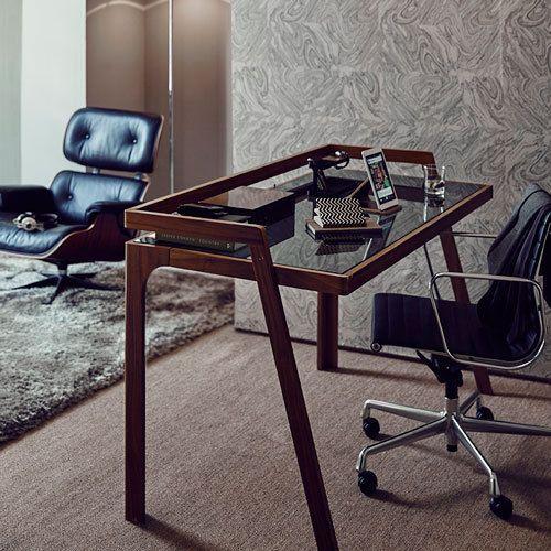 Retro-Style-Glass-Top-Desk-Chair-Floor-Mat