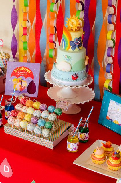 """Photo 8 of 23: rainbow, colors / Birthday """"Raindrops: A Shower of Colors """" 