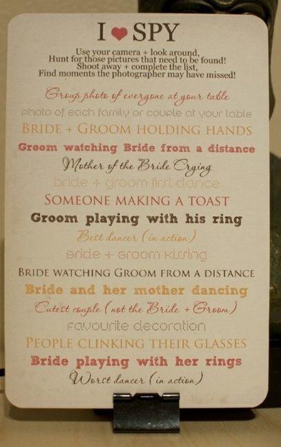 cute wedding table idea...