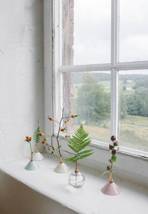 Schlichte Fensterdeko