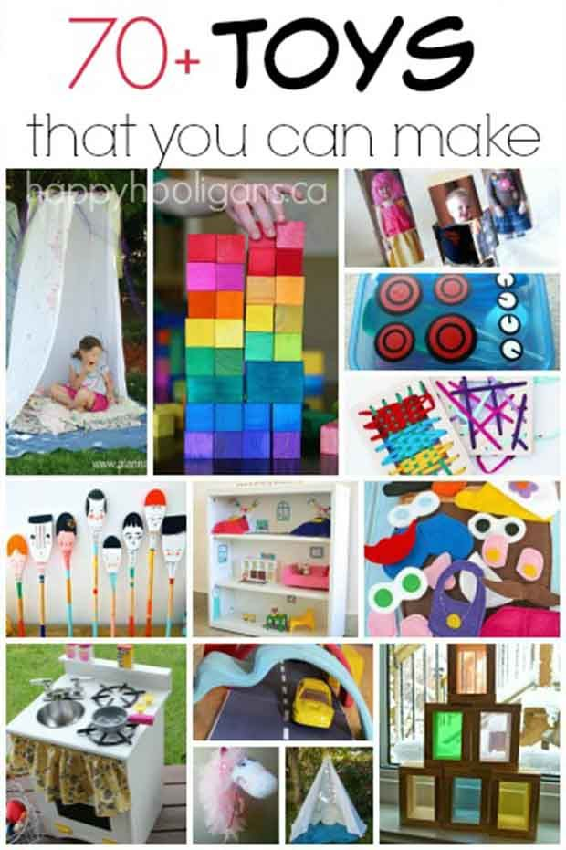 70+ Toys that you can make for kids // photo credit to happyhooligans