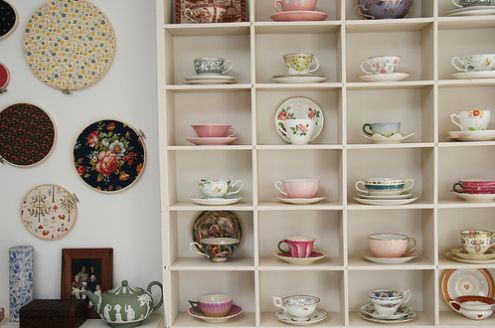 a great way to store and display a teacup & saucer collection.