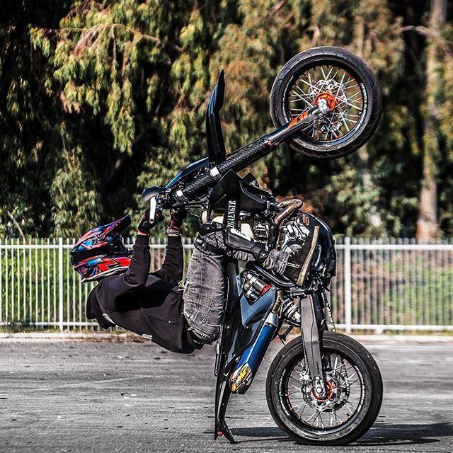 12 O Clock Wheelie Motorcross Bike Funny Motorcycle Supermoto