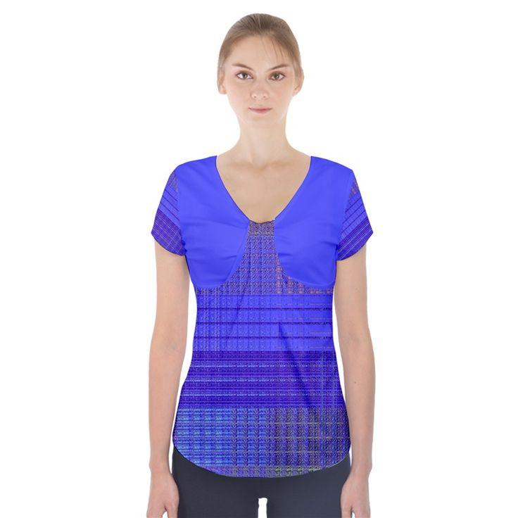#Annabelerockz-pattern-square-purple-2+Short+Sleeve+Front+Detail+Top