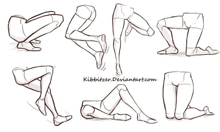 Legs reference sheet by Kibbitzer.deviantart.com on @DeviantArt