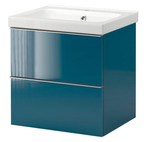 D co bleu canard id es et inspiration d co pantone et for Meuble salle bain bleu