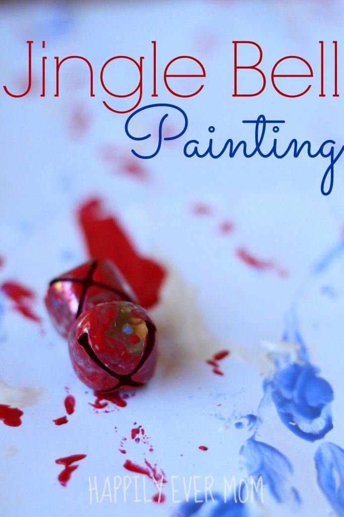 Jingle Bell Painting, makes a very cute gift for grandparents or a great addition to the fridge! {Happily Ever Mom}