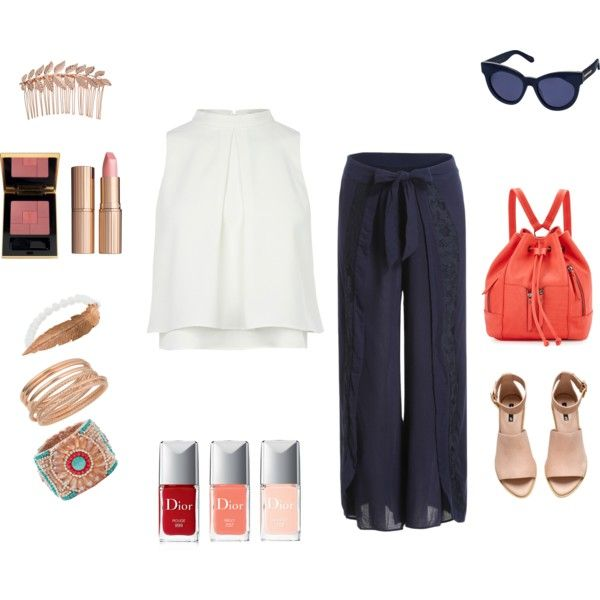 Casual Chic - White and Blue