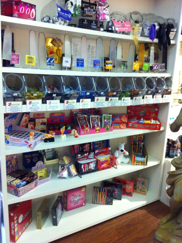 Our Condom section inside our store