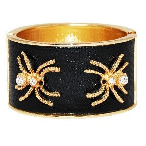 Gold & Faux Leather Spider Bangle -    #WinSupergaWithRitaOra
