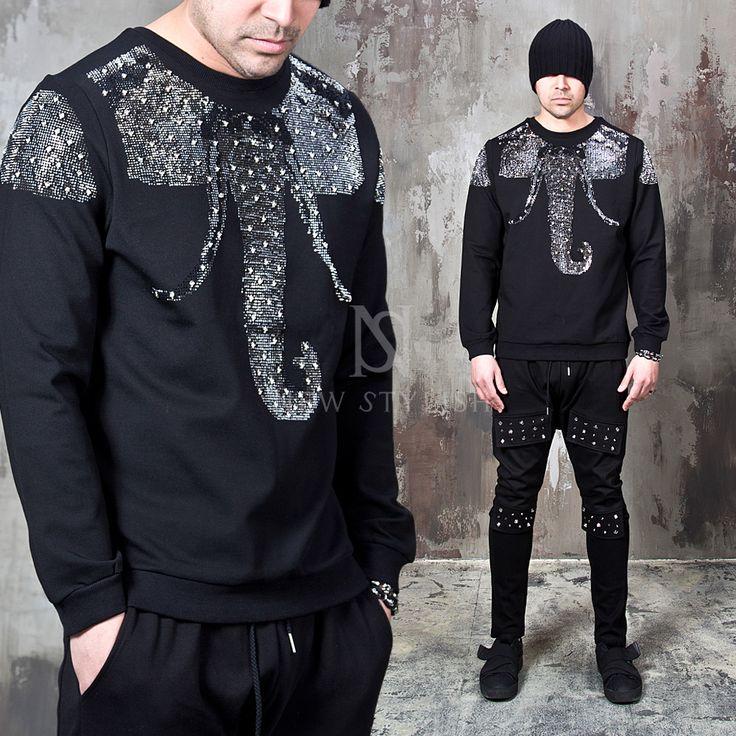 Studded Elephant black sweatshirts - 659