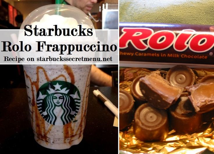 Starbucks Rolo Frappuccino! #StarbucksSecretMenu Recipe here: http://starbuckssecretmenu.net/starbucks-secret-menu-rolo-frappuccino/