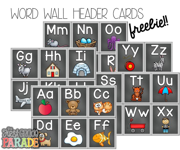 "FREE Word Wall Header Cards .... Follow for Free ""too-neat-not-to-keep"" teaching tools & other fun stuff :)"