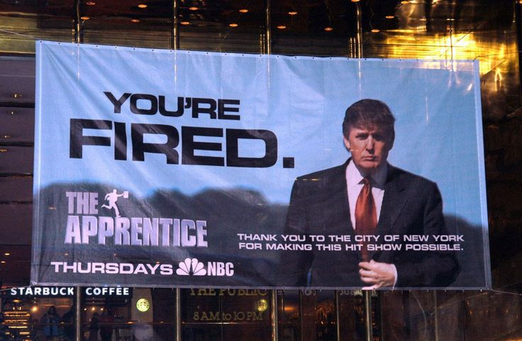 A banner hung at Trump Tower in New York promote's Donald Trump's 'The Apprentice,' which premiered in 2004.  #MAGA #MakeAmericaGreatAgain #Trump #TrumpTrain #POTUS #DonaldTrump #AmericaFirst #FirstLady #VicePresident #America #FF #FollowMeNow #AllLivesMatter #UnitedStatesofAmerica #USFlag #MikePence #UnitedStates #Republicans #Follow4Follow #FakeNews #TrumpPence #InstaFriends #Like4Like #FLOTUS #TrumpFollowers #TrumpSupporters #TrumpIsMyDaddy #AmericanSpirit #45thPresident