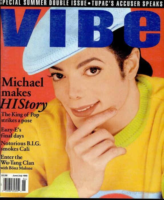 20 Vibe Magazine Covers That Perfectly Define The '90s - Michael Jackson - June/July 1995.