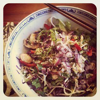 Crunchy Asian Salad with Sweet Tamari & Sesame Dressing