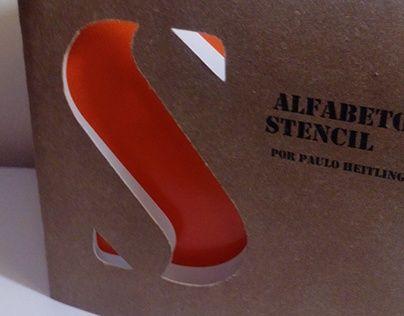 Brochura: Alfabetos Stencil por Paulo Heitlinger