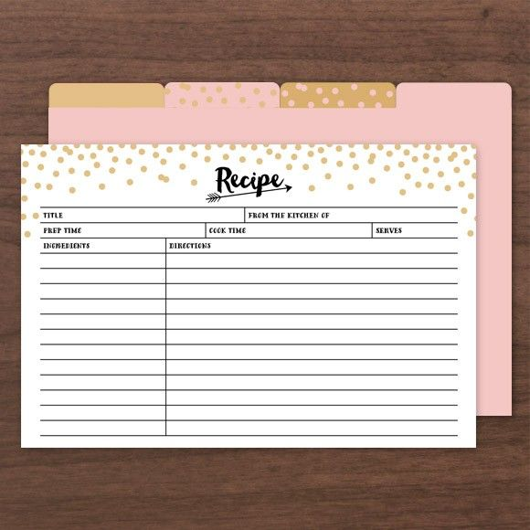 """<p>These Recipe Cards can be filled out in Adobe Acrobat so you don't have to hand write them. </p><p><strong>Size: </strong>4"""" x 6"""" 