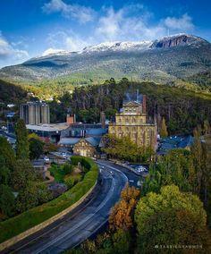 First snow on Mt Wellington, Hobart Tasmania Australia
