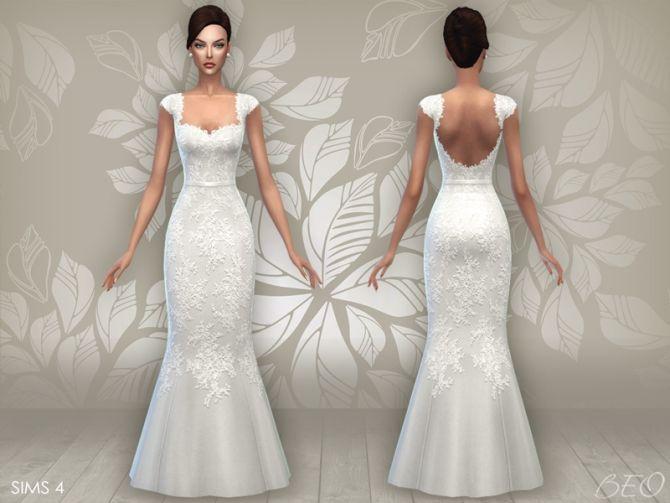 WEDDING DRESS 06 at BEO Creations via Sims 4 Updates