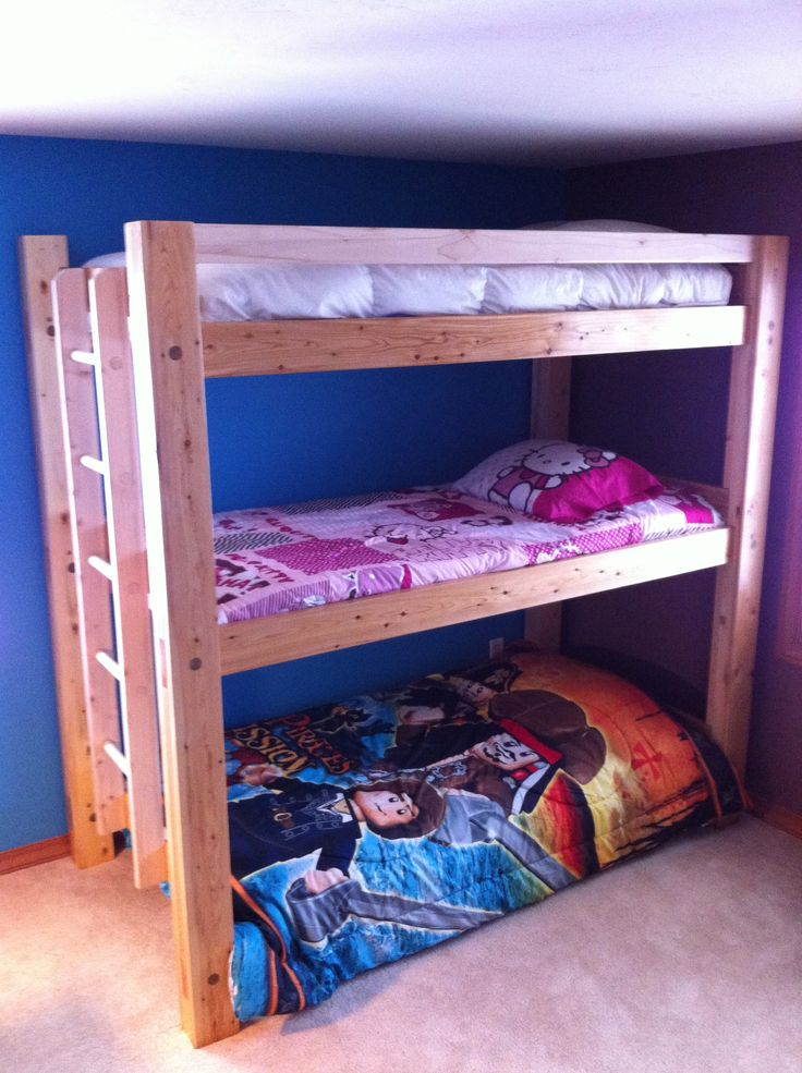 Solid Wood Triple Bunk Bed Decor Ideas Pinterest