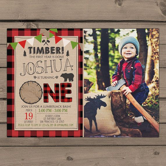 Rustic Lumberjack Themed Birthday Party by Anietillustration