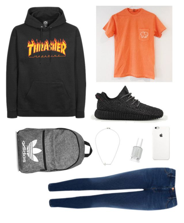 """""""School Clothes #8"""" by lily141 on Polyvore featuring adidas, Warehouse, Essie and JudeFrances"""