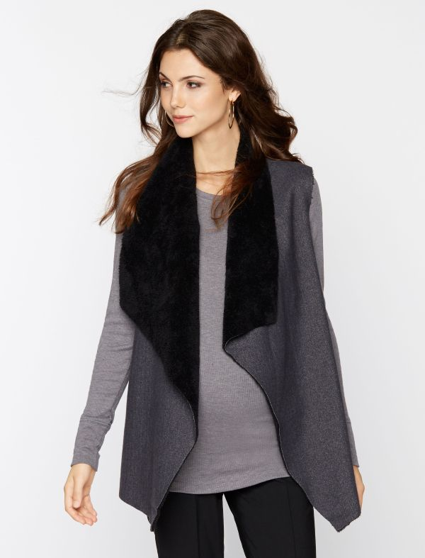 5 Wardrobe Secrets for Surviving the First Trimester   Drapey Maternity Vests + Jackets